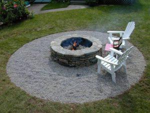 Как построить каменную яму для костра