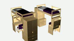 Мебель в общежитие для студентов