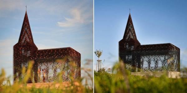 Прозрачная современная церковь