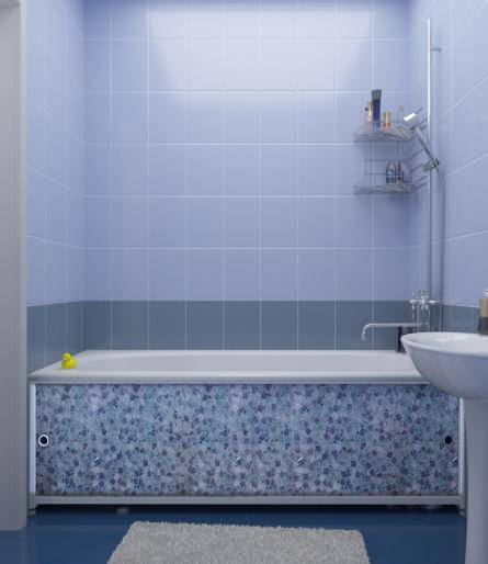 Как установить экран для ванны