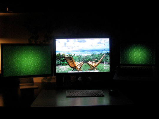 My Best Apple Setup:2 Apple Cinema Displays and Macbook Pro