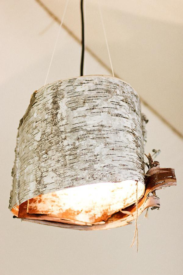 Лампа из бересты. Сделай сам