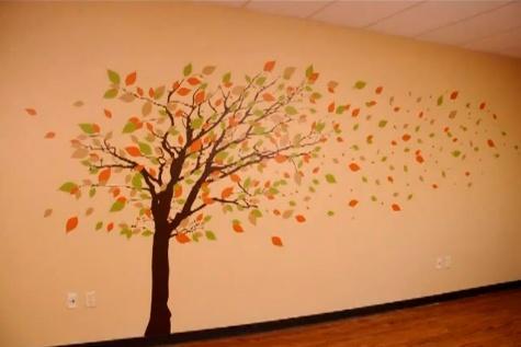 Декорирование стены - осень!