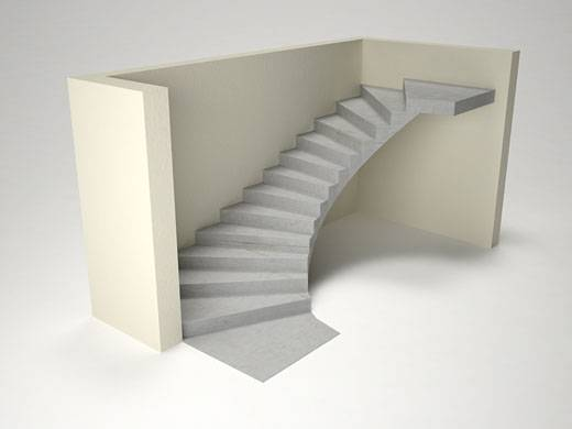 Криволинейные монолитные лестницы