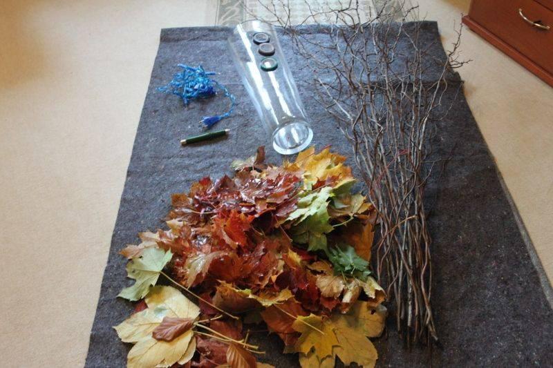 Унитаз из осенних листьев картинки