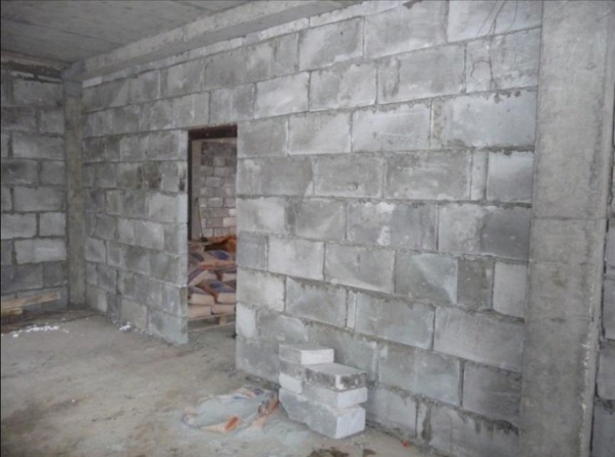 Баня из пеноблоков внутри