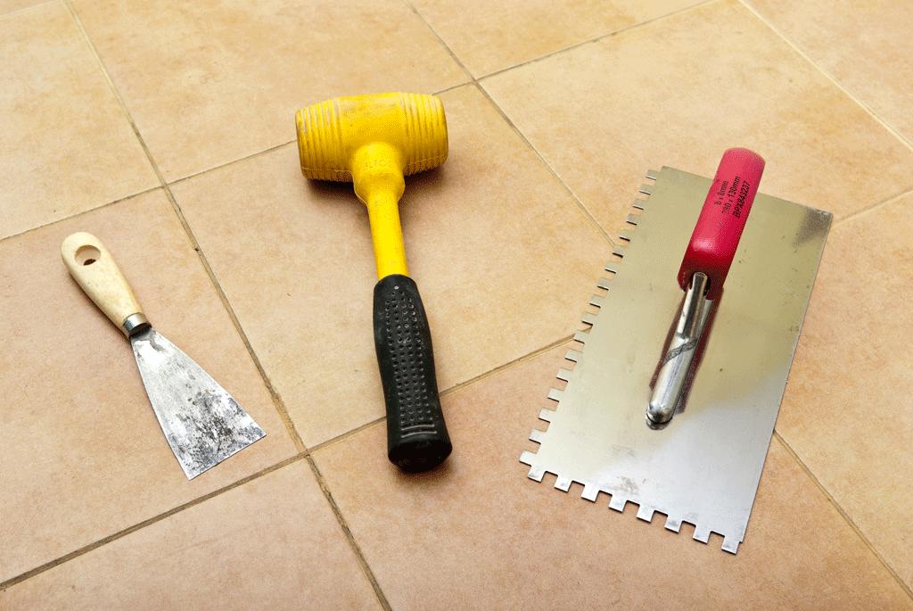 Подготовка пола перед кладкой плитки