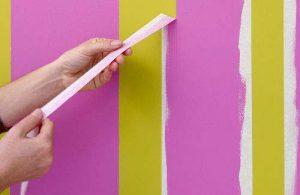 Рисуем полосы на стенах — декор стен