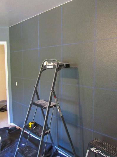 Как нарисовать полосы на стене (зигзаги)