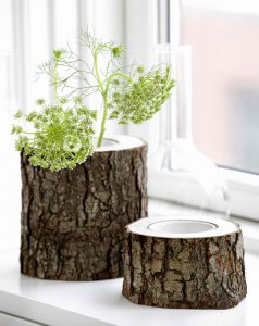 Горшки из деревянных пеньков