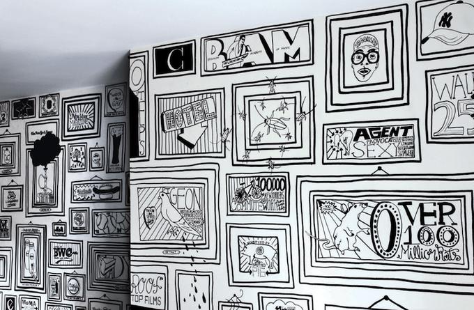 Иллюстрации на стенах