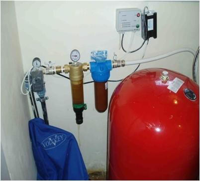 Монтаж горячего водоснабжения из скважины 40 м.
