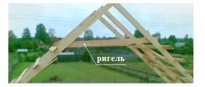 Ригель будущей крыши