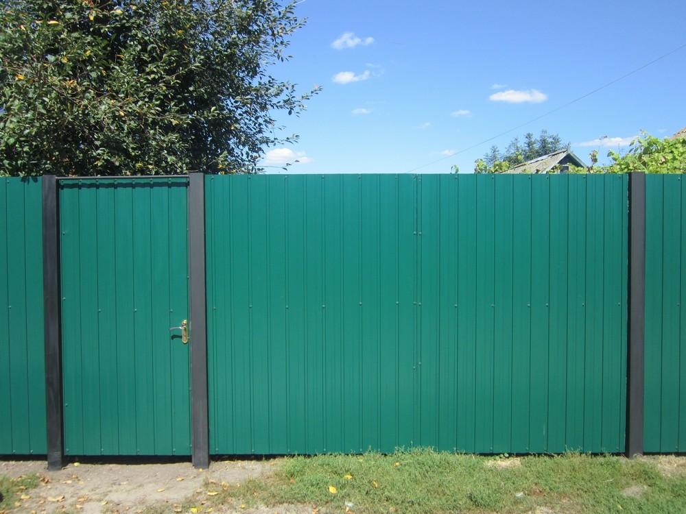 Забор из профнасила своими руками