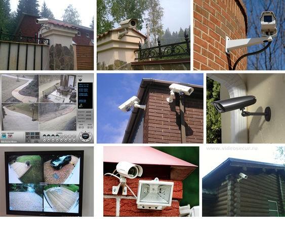 Видеонаблюдение загородного дома