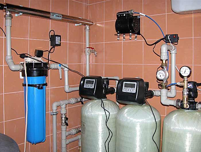 Система очистки воды в коттеджах