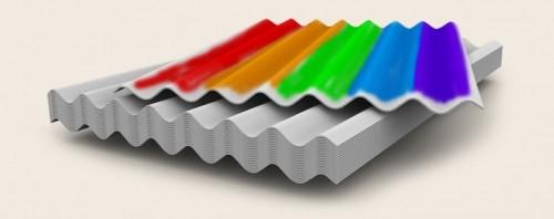 Покрашенный шифер для строительства крыши