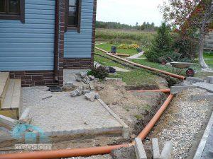 Укладка ливневой канализации