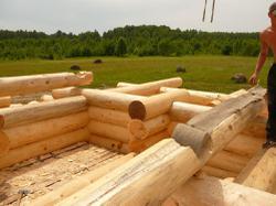 Как строится рубленый дом