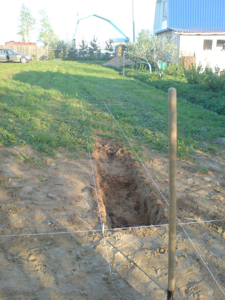 выборка грунта под фундамент