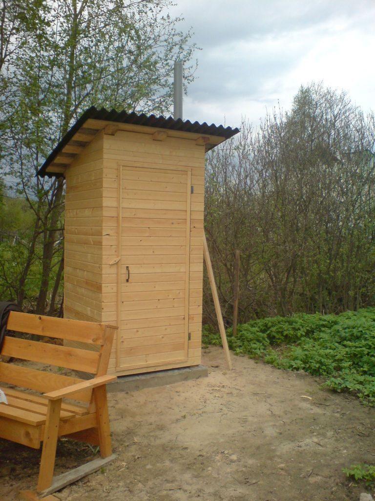 Уличный туалет на участке своими руками