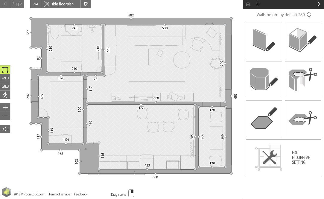 Roomtodo - Онлайн-планировщик дизайна интерьера скачать