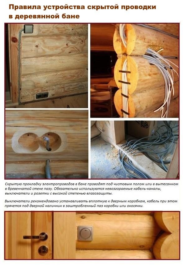 Правила устройство проводки в деревянных стенах