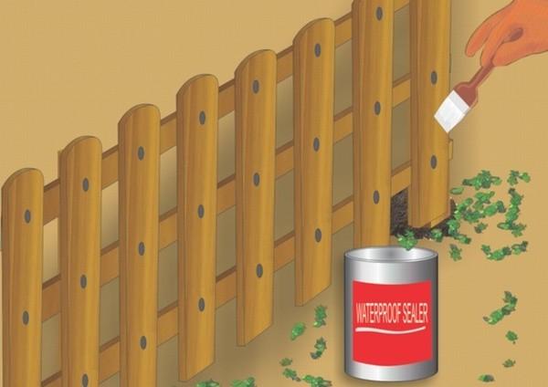 Покрасить забор антисептиком