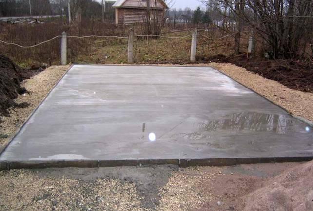 Мелкозаглубленный плитный фундамент