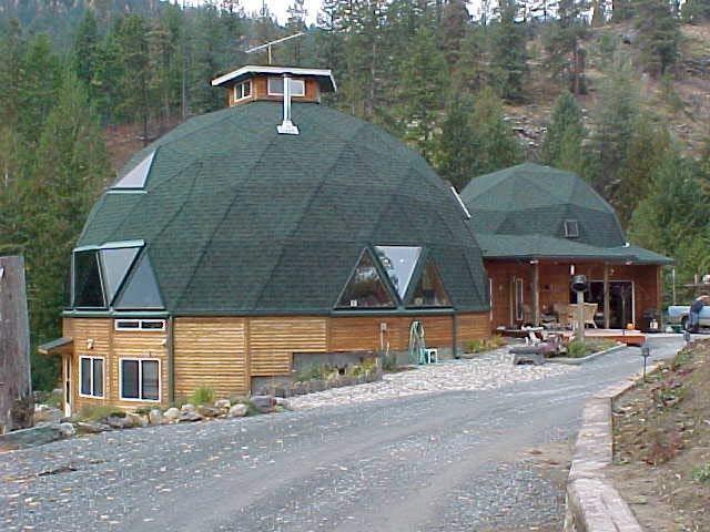 коническая и купольная крыша дома фото
