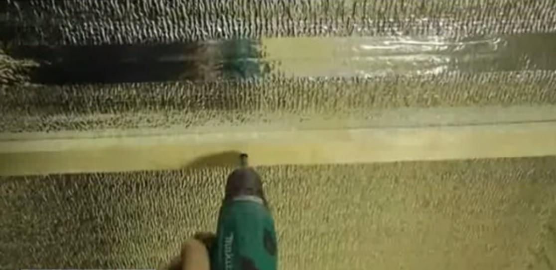 Шаг между рейками составляет около 50 см