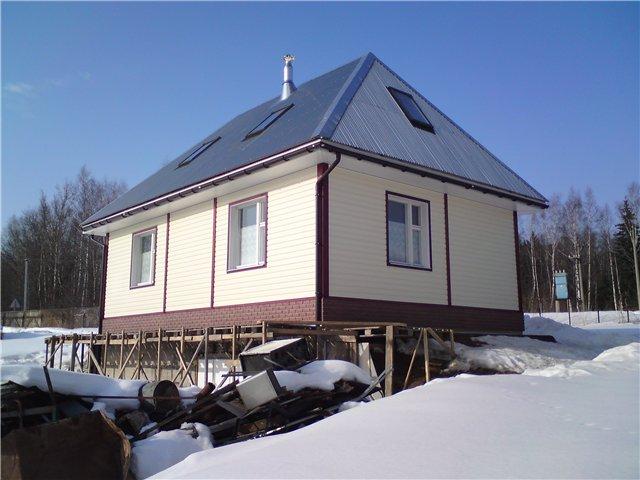 Вальмовая крыша дома фото