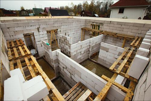 Перегородки стены из блоков