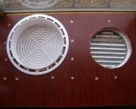 Отверстия в подоконнике для забора воздуха и вывода с конденсатора