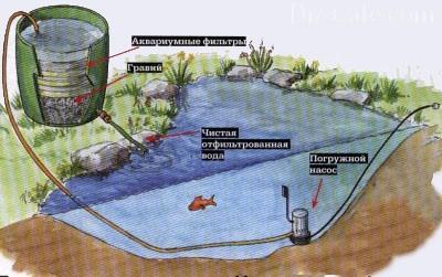 Полный цикл производимой очистки воды показан на картинке