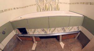 Чугунная ванна: Установка своими руками