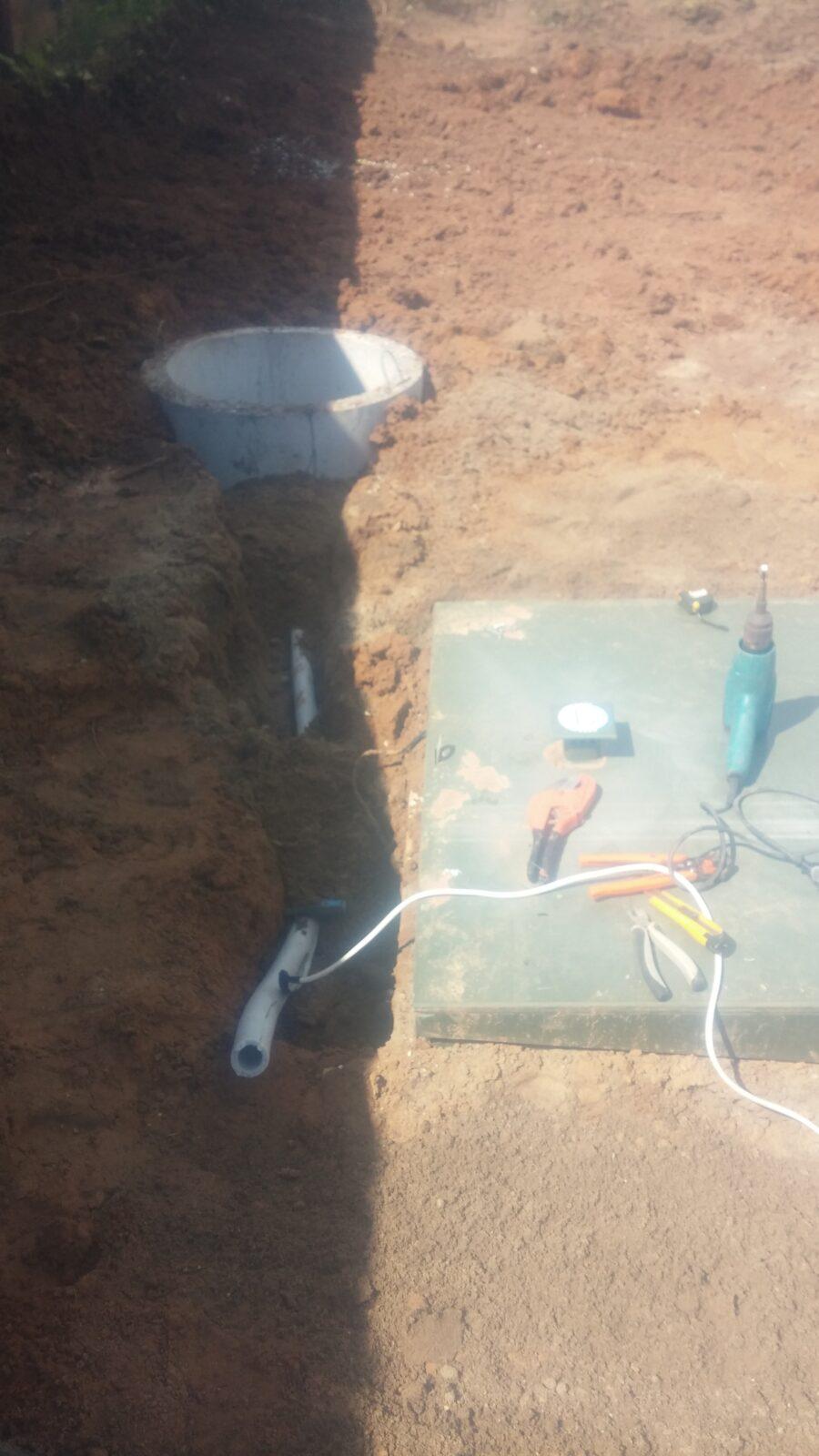 отвод стоков канализации фото