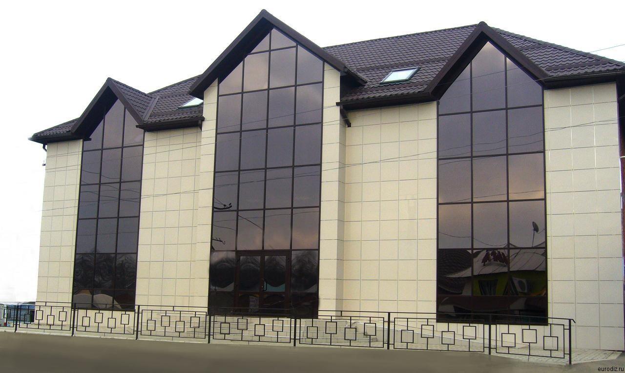 Фасад из керамогранита фото