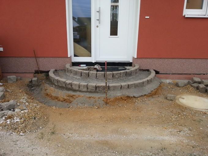 Крыльцо из бетона с навесом фото