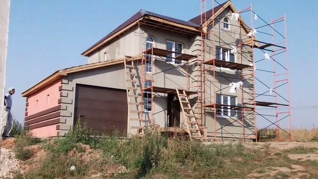 фасад каркасного дома
