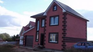 фасад каркасного дома доской