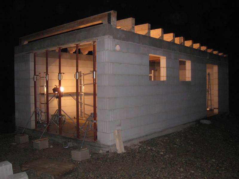 крыша гаража двухскатная