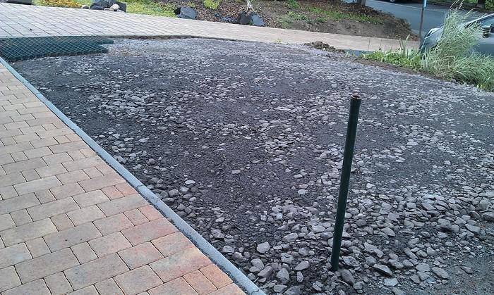 Как сделать парковку из гравия