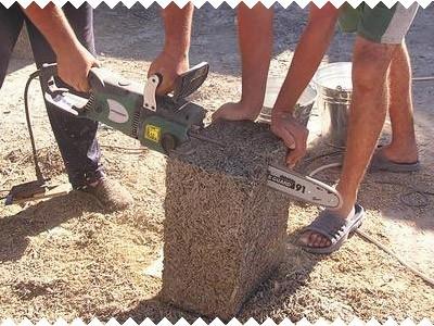 Блок легко обрабатывать