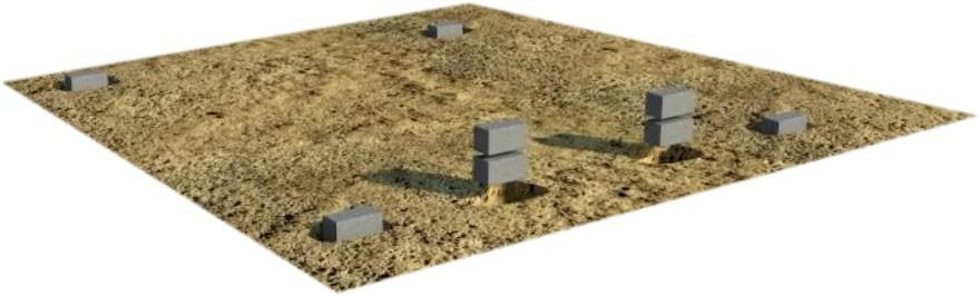 фундамент из блоков фото