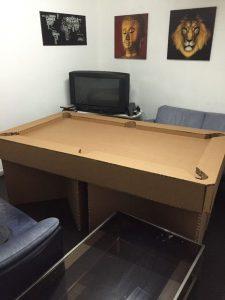 Бильярдный стол из картона своими руками