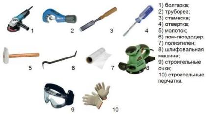 Инструмент для замены стояка