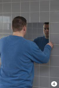 Установка зеркала на герметик