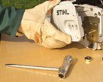 Боковое устройство натяжения цепи stihl фото