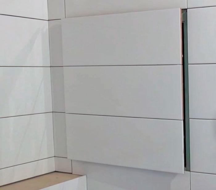 горизонтальная раскладка плитки в ванной фото